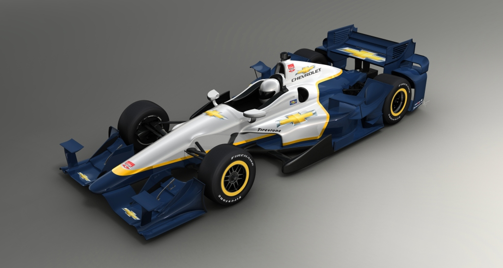 Chevrolet-powered racecars in the 2015 Verizon IndyCar Series wi